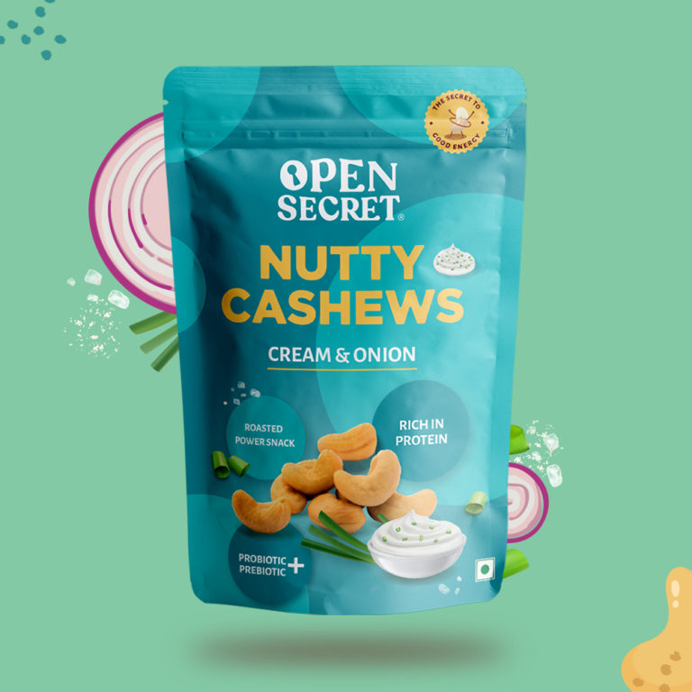 Cream and Onion Nutty Cashews